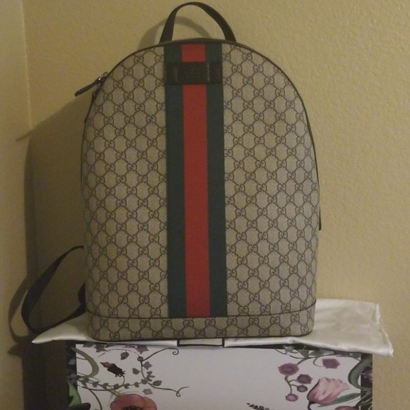 d60b8368b8a8 Gucci Bags | Gg Supreme Backpack With Web | Poshmark